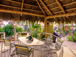 relax in the shade when you rent a beach cottage at Beachpoint Cottages on Siesta Key